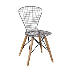 Farmer's Chickenwire Chair in Gray