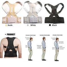 Aptoco Magnetic Therapy Posture Corrector Brace Shoulder Back Support Belt for Men Women Braces & Supports Belt Shoulder Posture Posture Fix, Posture Support, Bad Posture, Improve Posture, Back Brace For Posture, Shoulder Posture, Shoulder Brace, Shoulder Straps, Improve Self Confidence
