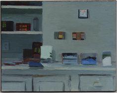 "Studio Wall 2012, Oil on Panel, 4 x 5"""