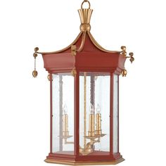 Zhin Global Bazaar Red Gold Leaf Orient Lantern 3 705 Cad Liked On Polyvore