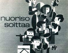 Call the Youth/Youth Makes Music. Design by Osmo Pasanen (Sweden or Finland), 1964 @newhousebooks