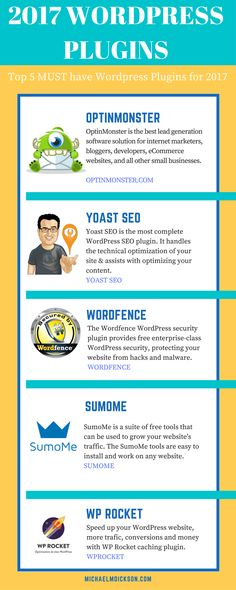 Wordpress plugins are vital to your blogs success. Make sure you're using the best plugins for 2017 to help your online business grow!