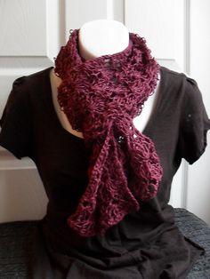 The Art of Zen.Crochet: Free Lacey Crochet Scarf Pattern - remember for later; need to get better first! Crotchet Patterns, Crochet Motifs, Crochet Shawl, Free Crochet, Knit Crochet, Scarf Patterns, Irish Crochet, Crochet Ruffle, Single Crochet