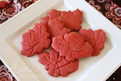 Red Maple Leaf Cooki