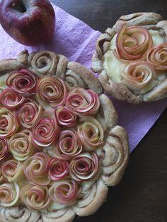Pâtisserie Nadine: Apfel-Rosen-Tarte mit Zimtschneckenboden