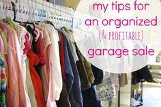 simply organized: an organized garage sale
