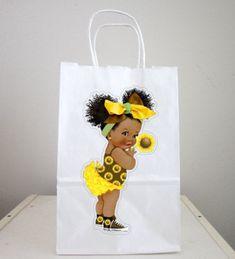 Sunflower Girl Goody Bags, Sunflower Girl Favor Bags, Sunflower Girl Gift Bags, Sunflower Girl Party Bags Monster Truck Birthday, Bear Birthday, Girl Birthday, Sunflower Party, Sunflower Baby Showers, Dragon Birthday, Dragon Party, Small Gift Bags, Small Gifts