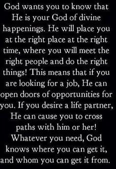 Pray endlessly...