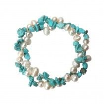8mm Freshwater Pearls and Stones Bracelet
