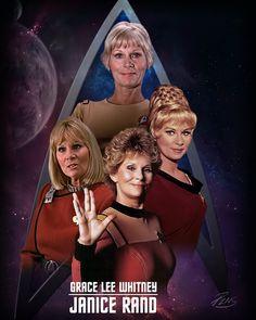 Grace Lee Whitney as Janice Rand in Star Trek.