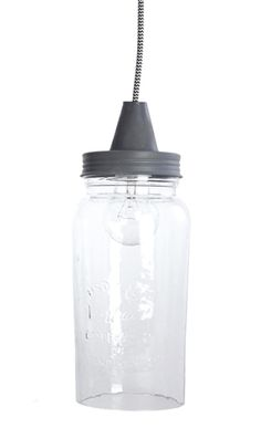 vintage hanging glass shade - look cool in the patio Industrial Lighting, Mason Jar Lamp, Look Cool, Glass Shades, Water Bottle, Table Lamp, Cool Stuff, Green, Patio