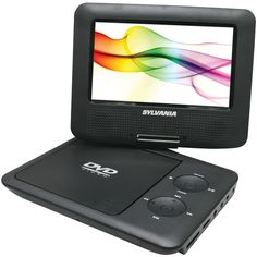"SYLVANIA BLACK 7"" Swivel-Screen Portable DVD Players #Sylvania"