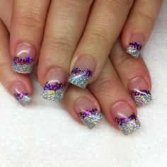 Prism glitter gel nails By Melissa Fox