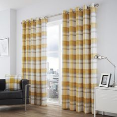 The Balmoral check curtains are always a firm favourite with our customers. On trend checks and stylish colour combinations combined with a sleek eyelet heading make for a stand out curtain design which will effortlessly dress your window choice. These curtains have a composition of 100% cotton. Product Includes A pair of curtains in your selected size Cushions are available separately Cushions come complete with filling pad Care Instructions Dry Clean Only Ready Made Eyelet Curtains, Lined Curtains, Curtain Poles, Curtain Sets, Rideaux Design, Check Curtains, Rustic Bedding, Thermal Curtains, Room Darkening Curtains