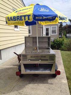 Sabrett Hot Dog Cart Umbrella For Sale