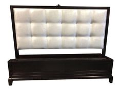 Queen Contemporary Tufted Headboard Park Ave. Bed on Chairish.com