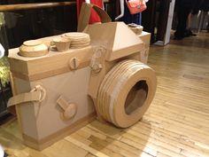 Giant cardboard camera. Liberty London Feb 2012