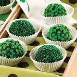 St. Patty's Day Mud Balls. Recipe from recipegoldmine.com. #St.Patrick'sDay