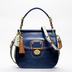 Coach Leather Colorblock New Willis