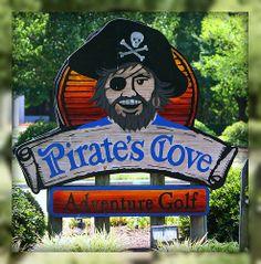 Pirates Cove Adventure Golf.  Fun!  Williamsburg, Virginia