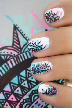 161 cute and stylish summer nail art ideas montenr.com