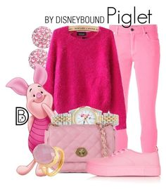 Piglet by leslieakay on Polyvore featuring polyvore, moda, style, ALDO, eWatchFactory, Christopher Kane, Topshop, toosis and Bling Jewelry