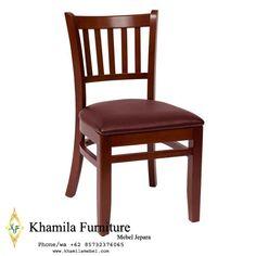 Kursi Restoran Dudukan Kulit (2) Side Chairs, Dining Chairs, Dining Area, Restaurant Bar Stools, Cafe Furniture, Mahogany Color, Green Cushions, Coffee Shop Design, Hotel Supplies