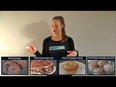 Introduktion til følgende opskrifter:  Proteinis  Proteinvafler Proteinromkugler Proteinmuffins