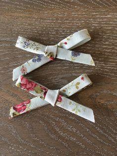 Blue Floral Pigtail Bow Set