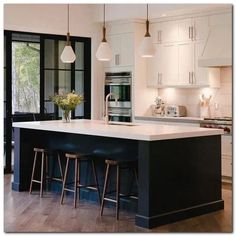 With the improvement of people's living standards, kitchen design has become one of the focuses of modern home design. The kitchen is not only the… Modern Kitchen Island, Modern Farmhouse Kitchens, Black Kitchens, Modern Kitchen Design, New Kitchen, Cool Kitchens, Kitchen Ideas, Awesome Kitchen, Minimal Kitchen