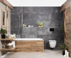 Bathroom Designs With Vintage Industrial Charm - nyamanhome Bathroom Accent Wall, Bathroom Accents, Wooden Bathroom, Bathroom Renos, Bathroom Renovations, Washroom, Bathroom Design Luxury, Bathroom Design Small, Bathroom Designs
