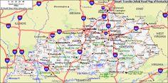 Kentucky Map - http://travelsfinders.com/kentucky-map.html
