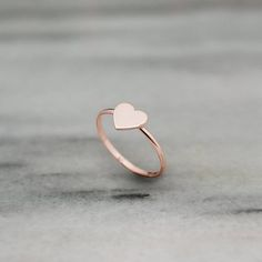 Rose Gold Heart Ring Romantic Heart Ring Gold Ring Rose Gold Love Ring Solid Heart Ring Minimal Ring Gift For Her Heart Jewelry - Your heart is made of gold. Its nice and friendly! Your feelings are true let the whole world - jewelry Heart Jewelry, Cute Jewelry, Gold Jewelry, Jewellery Box, Diamond Bracelets, Jewellery Making, Jewellery Display, Rose Gold Heart Ring, 14k Gold Ring