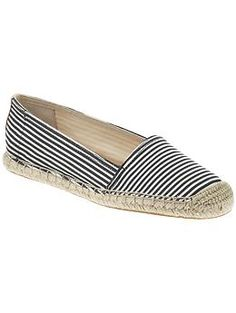 Black and white stripe espadrilles, you had me at black and white!