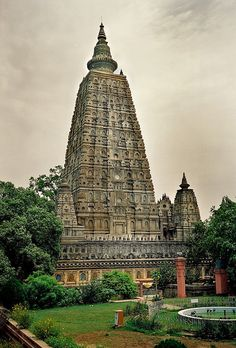 India, Mahabodhi Temple Complex at Bodh Gaya