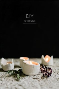 DIY Candle Clay Votives this holiday season