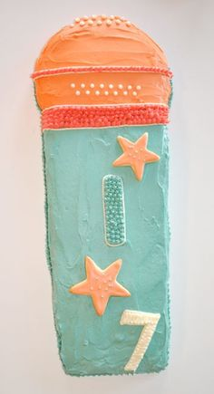 - Blonde Designs Blog - the microphone cake and cookies