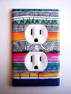 Doodle on your light switch plates.