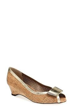 VANELi 'Bonnee' Perforated Open Toe Pump (Women) (Special Purchase) available at #Nordstrom