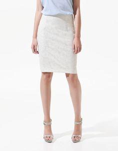 LACE PENCIL SKIRT - Skirts - ZARA Canada