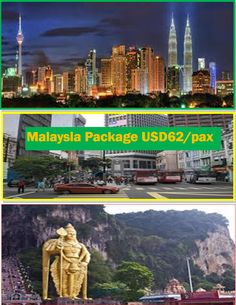 3D2N Kuala Lumpur Malaysia USD 62/pax Inclusions 2 nights accommodation in Kuala Lumpur Daily breakfast Kuala Lumpur half day city tour on SIC Round trip airport transfer (APT-HTL-APT) on SICPlease Note: Airfare not included, it depends on your travel date. No booking has been made as yet. Read all the inclusions.