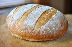 Rustic Crusty Bread: Super easy, no-knead bread recipe! Make and Bake or refridgerate for up to two weeks before baking. Pain Panini, Panini Bread, Knead Bread Recipe, No Knead Bread, Bread Recipes, Cooking Recipes, Panini Recipes, Rustic Bread, Rustic Country Bread Recipe