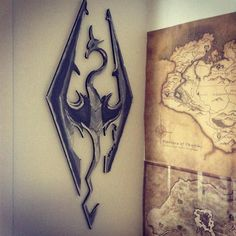 Medium Skyrim logo Wall Hanging by CustomGeekeryAU on Etsy, $10.00