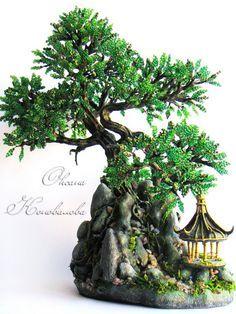 FROM BeadsMagic.com: Beaded Bonsai Tree. Love, love, love, love, love!!!