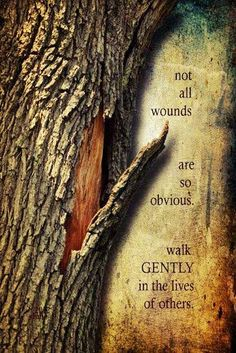 Not all wounds are so obvious, walk gently in the lives of others. Some people seem to think having the ability to say something is the same as having the right too. WORDS MEAN THINGS! Life Quotes Love, Great Quotes, Quotes To Live By, Me Quotes, Inspirational Quotes, Motivational, Unity Quotes, Quotes Pics, Inspiring Sayings