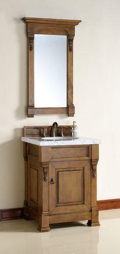 """26"""" Brookfield Country Oak Single Bathroom Vanity"""