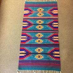 """Handwoven Zapotec rug in wool.  30"""" x 60""""  A real good buy at $64.95"""