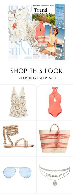 """""""hello sunshine"""" by lifestyle-ala-grace ❤ liked on Polyvore featuring STELLA McCARTNEY, Lilliput & Felix, Mar y Sol and GUESS"""