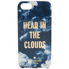Kate Spade New York In The Clouds Iphone 5 / 5S Case - French Navy (£18) ❤ liked on Polyvore featuring accessories, tech accessories, phone cases, phones, cases, iphone cases, kate spade, iphone case, pattern iphone case and apple iphone cases