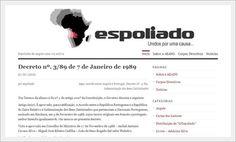 Website in Wordpress para Espoliado, AEANG Lisboa.